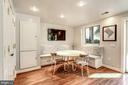 Eat-in Kitchen with Custom Banquette - 2130 BANCROFT PL NW, WASHINGTON
