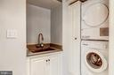 Laundry Room with Built-In Ironing Board - 2130 BANCROFT PL NW, WASHINGTON