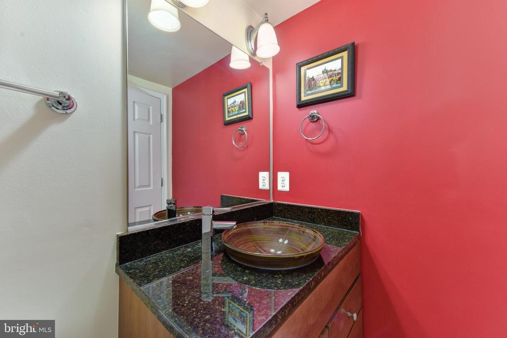 Bathroom Two with vessel bowl vanity. - 4165 S FOUR MILE RUN DR #204, ARLINGTON