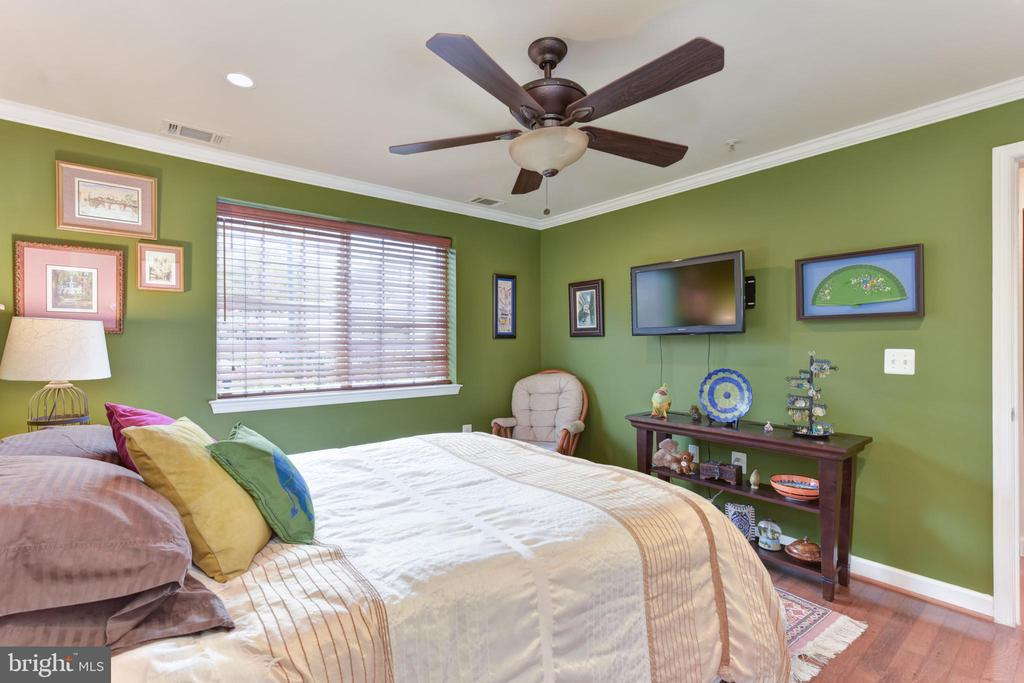 Master bedroom with large window. - 4165 S FOUR MILE RUN DR #204, ARLINGTON