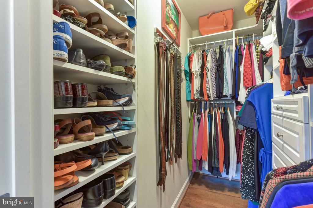 Master closet with organization. - 4165 S FOUR MILE RUN DR #204, ARLINGTON
