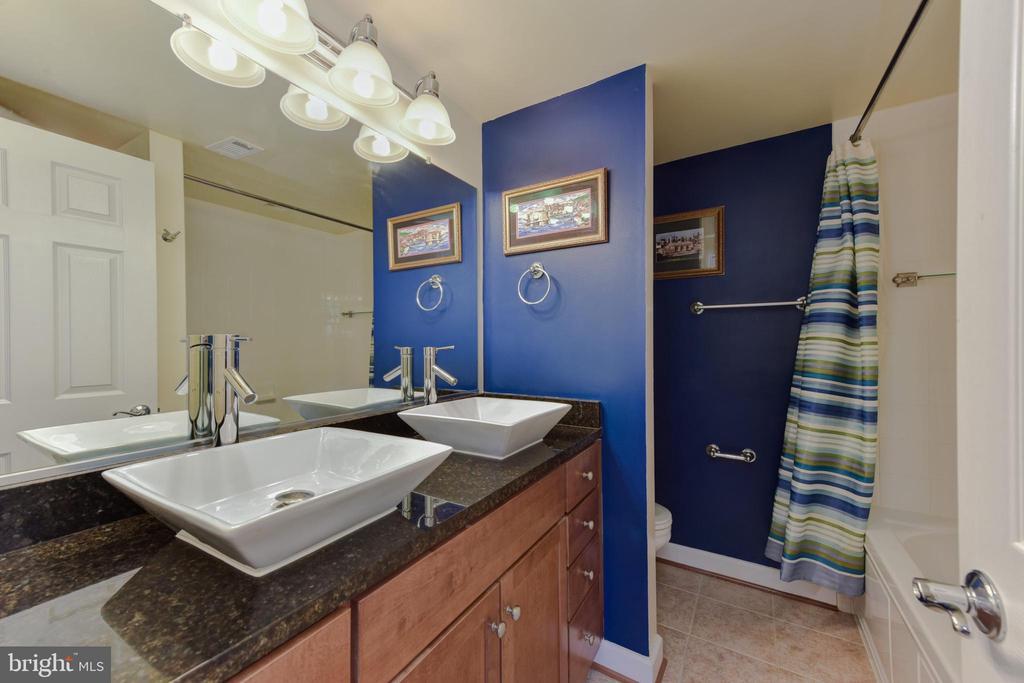 Master Bathroom with double vessel vanity. - 4165 S FOUR MILE RUN DR #204, ARLINGTON