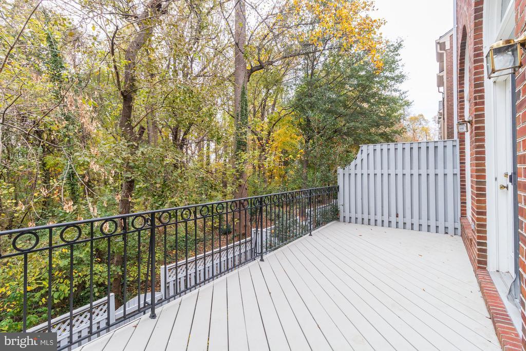 Deck overlooking park - 1733 22ND CT N, ARLINGTON