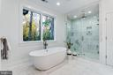 Large Soaking Tub & Glass Frameless Hinged Shower - 4647 38TH PL N, ARLINGTON