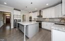 Gourmet Kitchen w/ Large Island (similar model) - 2013 STORM DR, FALLS CHURCH