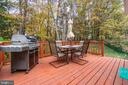 Deck just off Dining Area - 11989 POINT LONGSTREET WAY, WOODBRIDGE