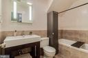Full bath with soaking tub in basement - 3814 USHER CT, ALEXANDRIA