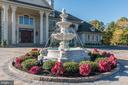 Elegant fountain. - 11643 BLUE RIDGE LN, GREAT FALLS