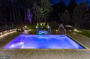 Heated in-ground pool with laser jet fountain. - 11643 BLUE RIDGE LN, GREAT FALLS
