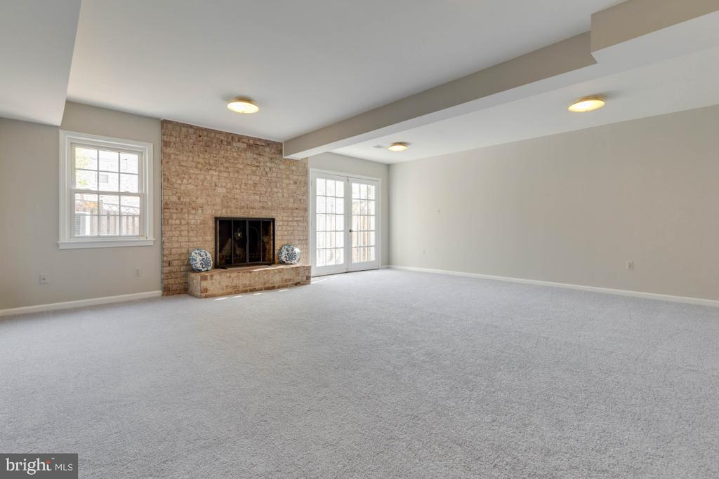 Lower level has a wood burning fireplace too - 1009 N TERRILL ST, ALEXANDRIA