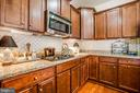 Beautiful tile backsplash & granite - 9808 BALLS BLUFF DR, FREDERICKSBURG