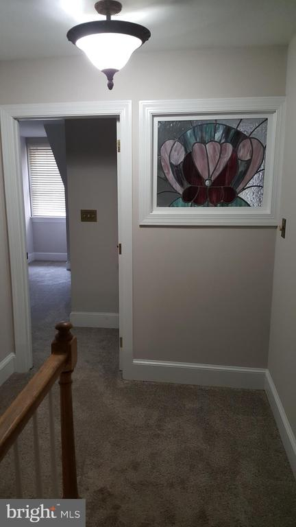 Stained glass art in upper hall - 11801 DUCK CIR, SPOTSYLVANIA
