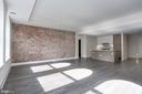Living area, exposed brick - 1745 N ST NW #410, WASHINGTON