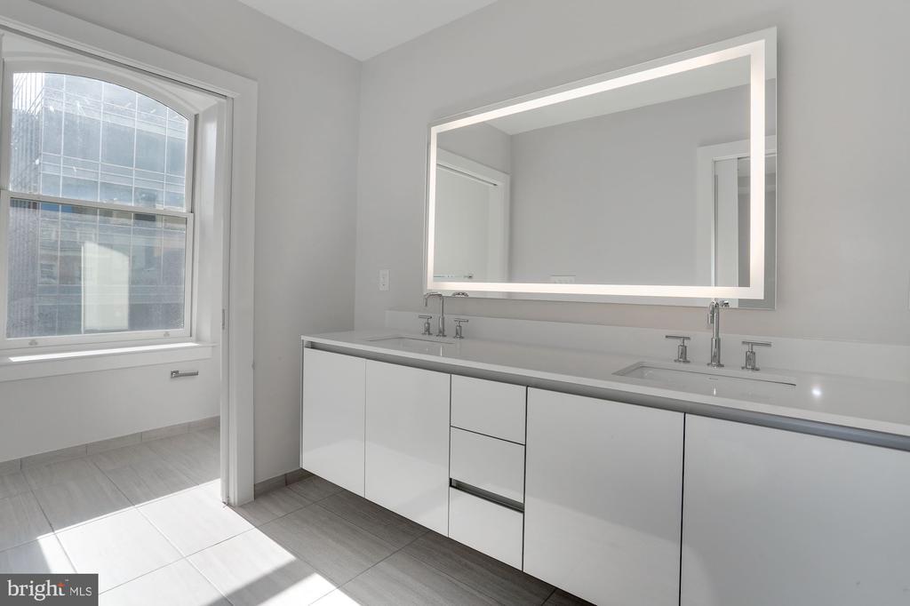Master bedroom with double vanities - 1745 N ST NW #410, WASHINGTON