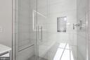 Frameless glass shower door - 1745 N ST NW #410, WASHINGTON