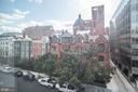 Actual view from inside the residence - 1745 N ST NW #410, WASHINGTON