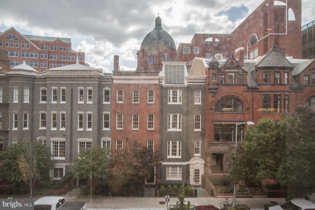 View from inside includes St. Matthews! - 1745 N ST NW #410, WASHINGTON