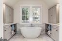MBR Bath- Marble floors & walls - 2322 N FILLMORE ST, ARLINGTON
