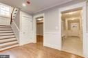 Basement stair landing - HW floors - 2322 N FILLMORE ST, ARLINGTON