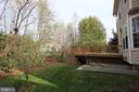 View of rear deck and yard - 21972 STONESTILE PL, BROADLANDS