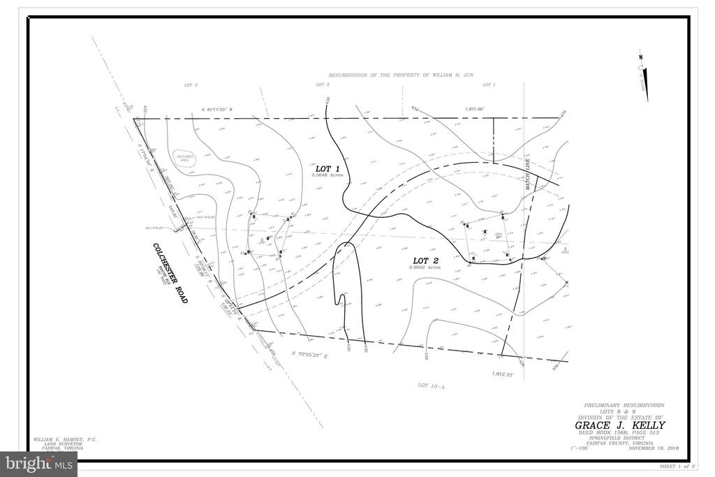 Lot 2 Topography - 5698-A COLCHESTER RD, CLIFTON