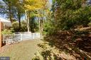 Back yard living - trees and privacy. - 8928 MAURICE LN, ANNANDALE
