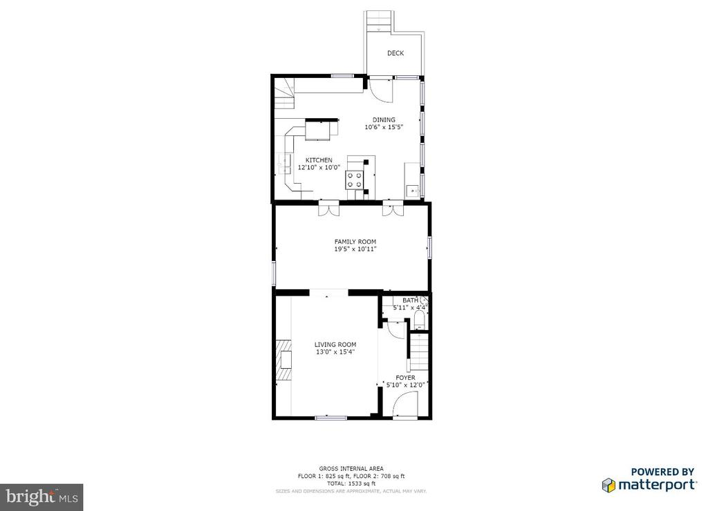 Main level floor plan - 232 PRINCESS ANNE ST, FREDERICKSBURG