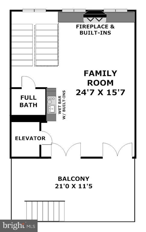 Top Floor Great Room opens to  Low Deck Terrace - 1335 14TH ST N, ARLINGTON