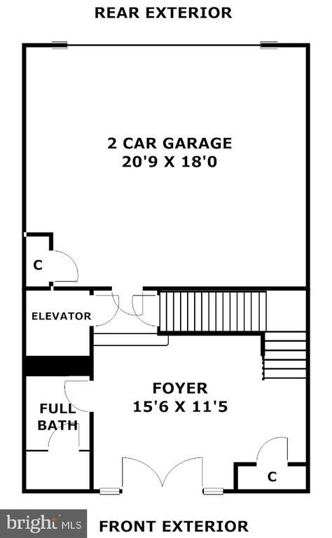 Entrance Level. Foyer ,FullBath &2 Fullcar garaged - 1335 14TH ST N, ARLINGTON