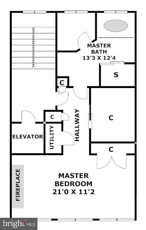 Opulent entire level Master Suite - 1335 14TH ST N, ARLINGTON