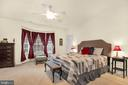 Oversized master suite with bay window - 21618 ROMANS DR, ASHBURN