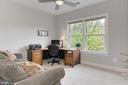 Bedroom #3 w/ Walk In Closet, CF and Tree Views - 23082 BRONSTEIN LN, BRAMBLETON