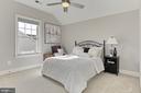 Bedroom #5 w/ Reach in Closet, CF and Side Window - 23082 BRONSTEIN LN, BRAMBLETON