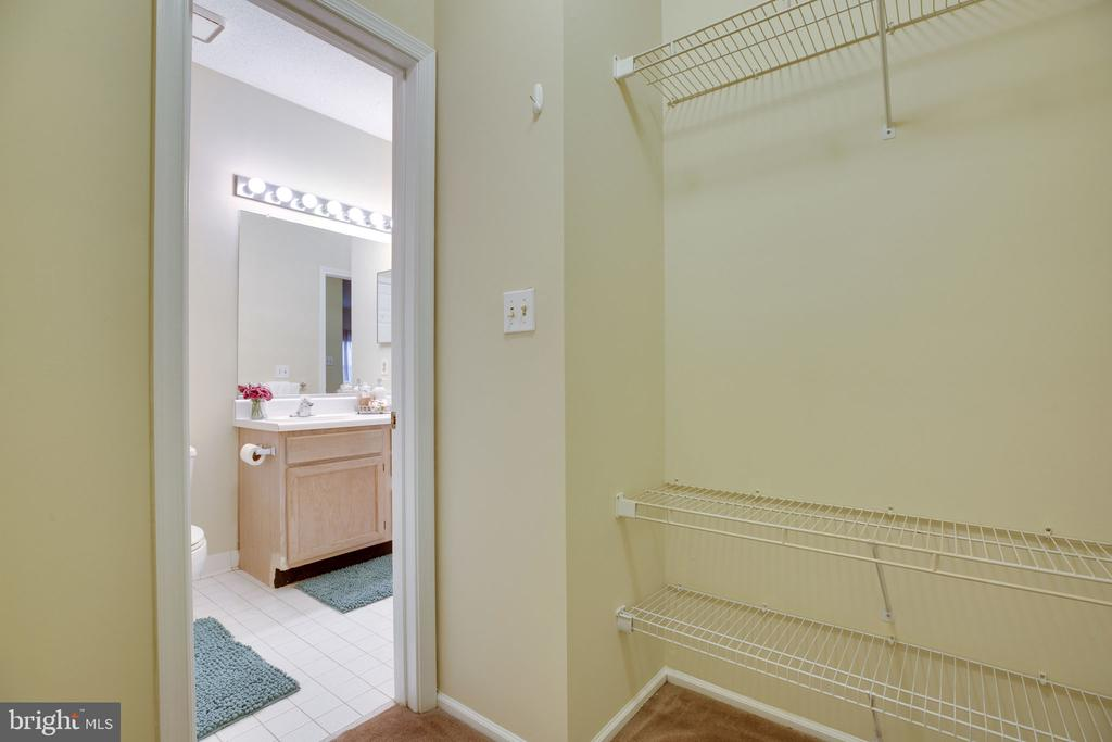 Huge walk in closet and 2 bathroom pts of access - 6011 ROSEBUD LN #101, CENTREVILLE