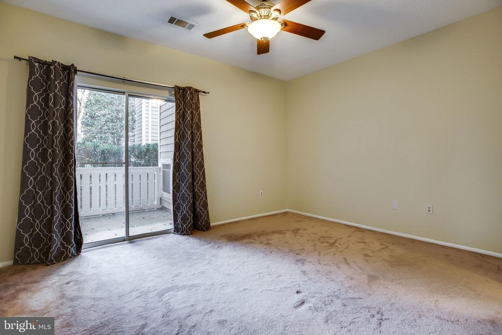 Bedroom view! Access to patio too. - 6011 ROSEBUD LN #101, CENTREVILLE