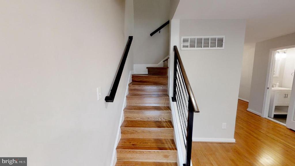 Staircase to second floor - 2310 14TH ST NE, WASHINGTON