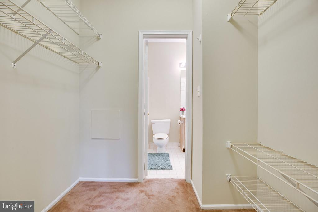 Walk in closet and an extra entry to bathroom - 6011 ROSEBUD LN #101, CENTREVILLE