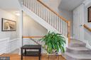 Beautiful crown molding and wainscoting. - 191 GREAT LAUREL SQ SE, LEESBURG