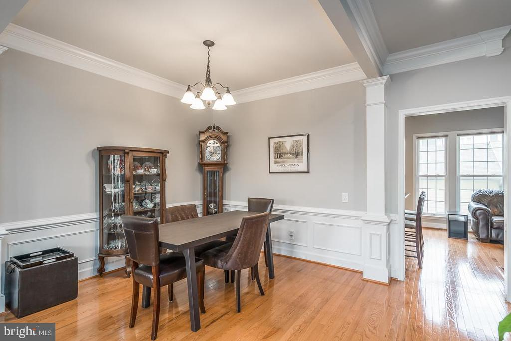 Dining room is framed out with more crown molding! - 191 GREAT LAUREL SQ SE, LEESBURG