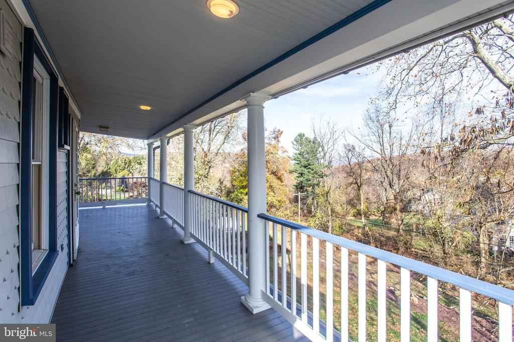 Enjoy the views from the upper level balcony - 6317 JEFFERSON BLVD, FREDERICK