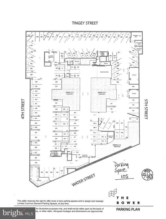 Parking Space # 105 conveys with sale - 1300 4TH ST SE #703, WASHINGTON