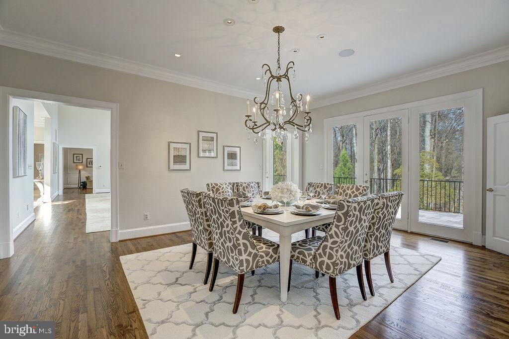 Formal Dining Room with Verdant Views - 6470 KEDLESTON CT, MCLEAN