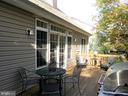 Back deck with door to Living Room - 239 WASHINGTON ST, LOCUST GROVE