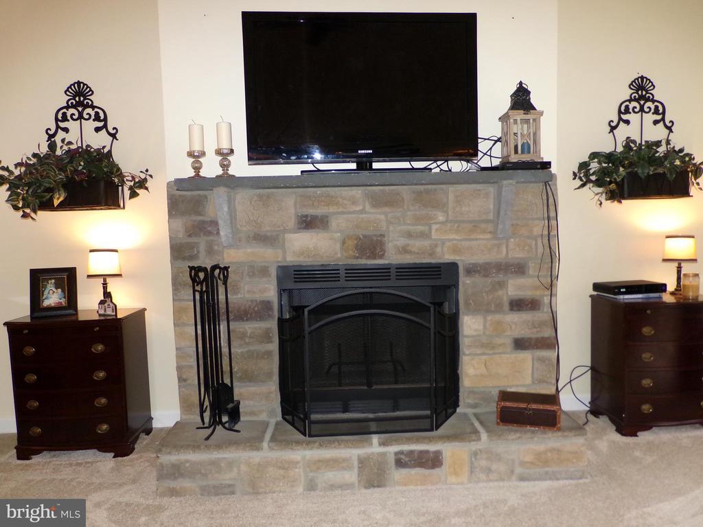 Beautiful wood burning stone fireplace~ - 239 WASHINGTON ST, LOCUST GROVE