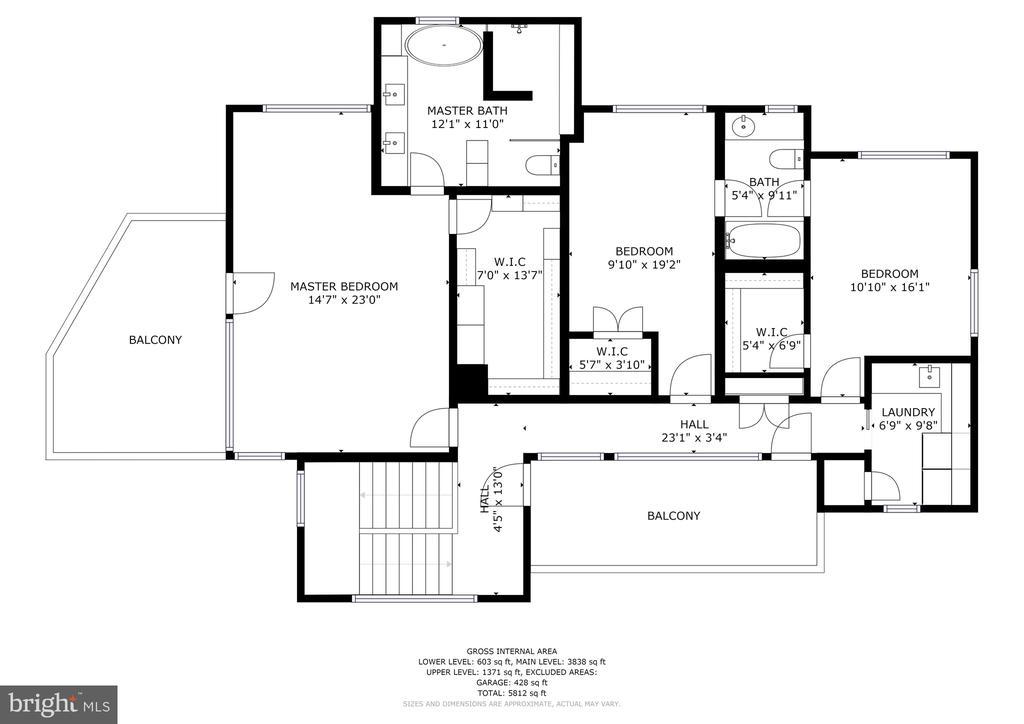 Upper level floorplan - 4611 36TH ST N, ARLINGTON