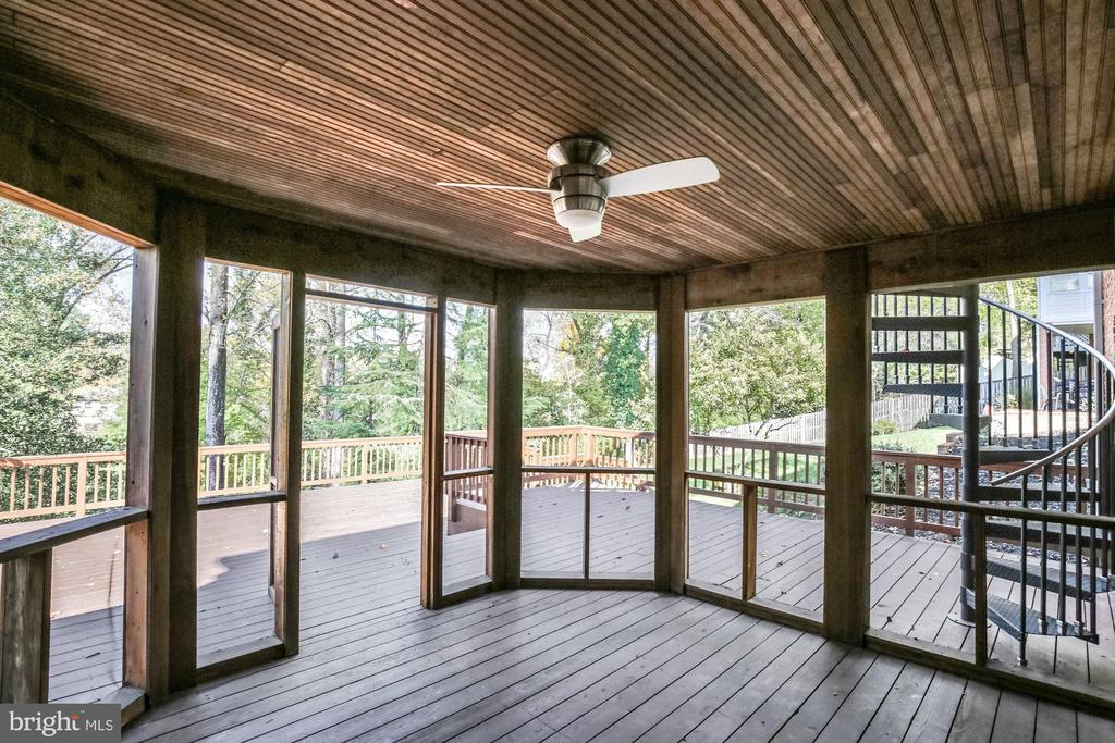 Lower level Deck, Screened  Porch - 4833 BROAD BROOK DR, BETHESDA