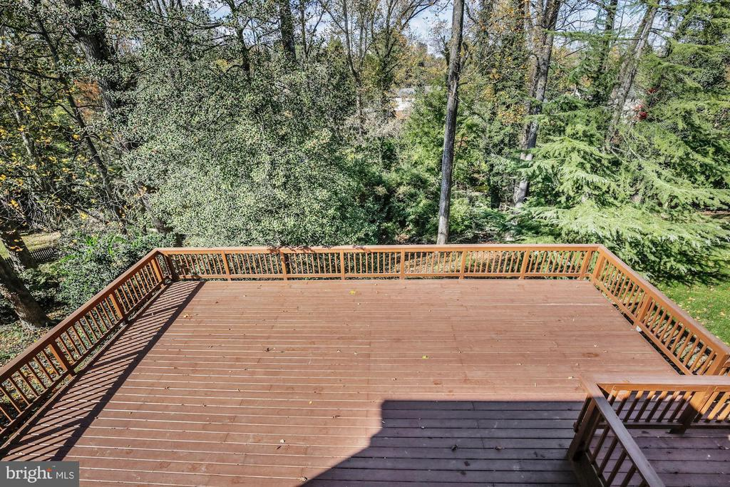 Spacious Lower Level Deck - 4833 BROAD BROOK DR, BETHESDA
