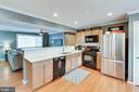 Large kitchen with stone counters - 1543 N VAN DORN ST #B, ALEXANDRIA