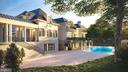Exterior Rear / Pool Rendering - 1171 CHAIN BRIDGE RD, MCLEAN