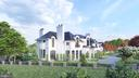 Exterior Side View Rendering - 1171 CHAIN BRIDGE RD, MCLEAN